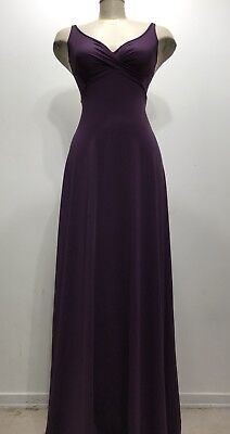La Vie En Rose Purple Long Gown Sexy Lace Back Women Dress Size Small