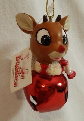Rudolph the Red nosed Reindeer Ornament by Roman Jingle Buddies 1992 NWT