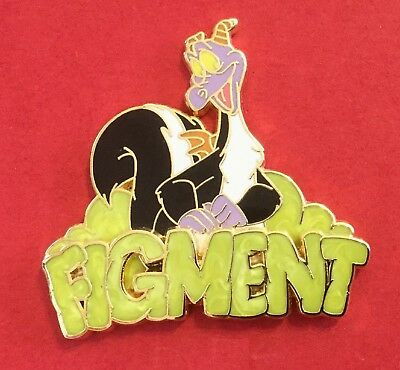 Disney Wdw 2008 - Gold Card Figment Skunk  Le New On Original Card