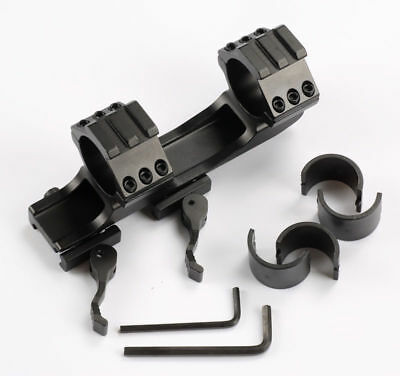 "Tactical Cantilever Dual Ring 1"" 25.4mm/30mm Quick Release Scope Mount Rail"