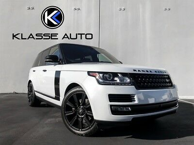 Range Rover HSE Td6 2016 Land Rover Range Rover HSE Td6 Rare Color Factory Black Accents Diesel Wow