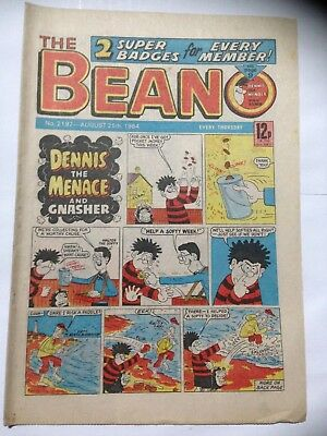 DC Thompson THE BEANO Comic. Issue 2197. August 25th 1984. **Free UK Postage**