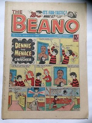 DC Thompson THE BEANO Comic. Issue 2176. March 31st 1984. **Free UK Postage**