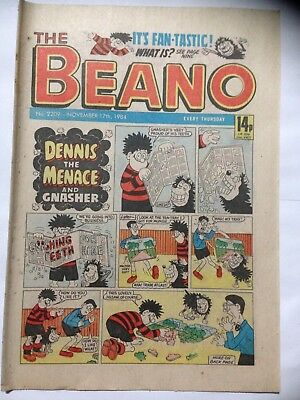 DC Thompson THE BEANO Comic. Issue 2209. November 17th 1984. **Free UK Postage**