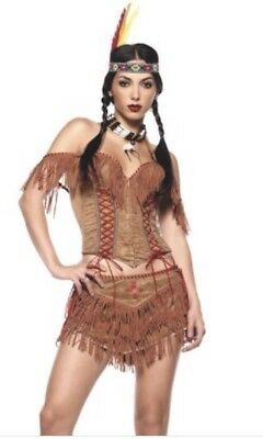 LEG AVENUE Sexy Indian Princess Pocahontas Adult Halloween Costume Size M - MINT