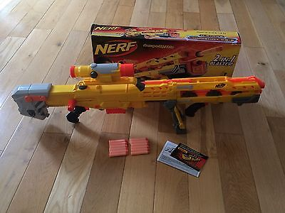 NERF N-Strike Longshot CS-6 bolt-action rifle foam bullets indoor outdoor extras