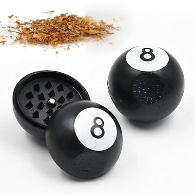 2 Part No.8 Billiards Metal Smoke Herbal Herb Grinder Spice Crusher Hand Muller