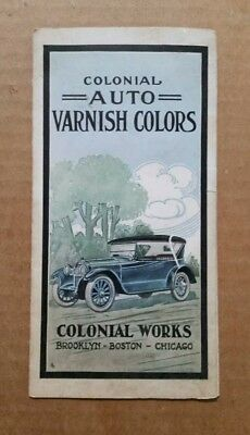 Colonial Auto Varnish Colors,Paint Sample Brochure,1910's