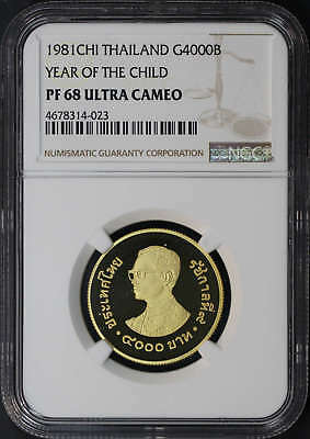 1981CHI Thailand Gold 4000 Baht Year of The Child NGC PF-68 UC -173985