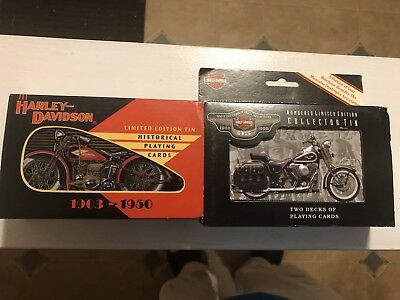 Harley Davidson Limited Edition Tins And Playing Cards NIB(READ)