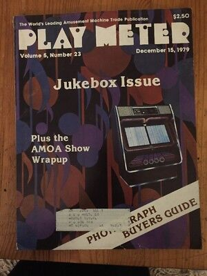 Play Meter Magazine December 15, 1979 - Future Spa, Buck Rogers, Space Chasers