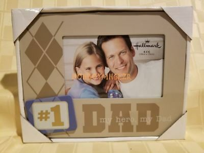 Dad My Hero Photo Frame Glass 3d Daddy Fathers Day Gift 1451