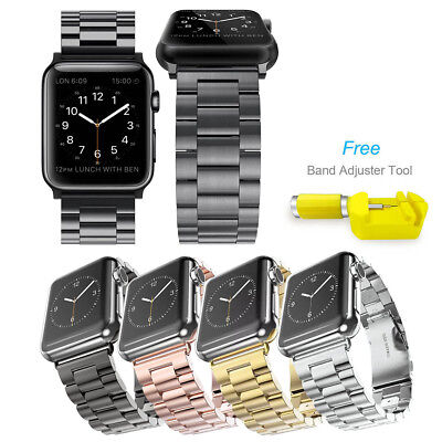 For iWatch Apple Watch Series 4/3/2/1 Adjustable Metal Watch Band Strap 38/42mm