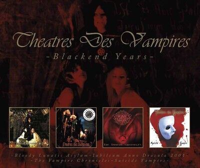Theatres Des Vampires - Blackend Years (4Cd Box)   Cd New!