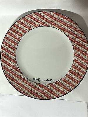 """Andy Warhol Campbell's 100 Cans By Block 11"""" Dinner Plate"""