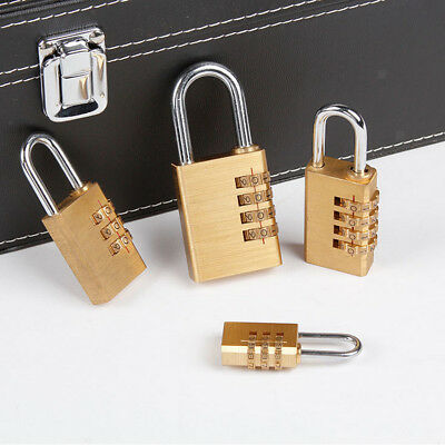 Heavy Duty Brass Digits Combination Lock Travel Luggage Bag Suitcase Padlock