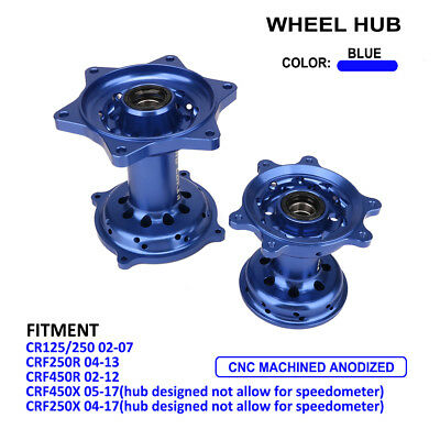 Front Rear Wheel Hub For Honda CR125 CR250 CRF250R CRF450R CRF450X CRF250X Blue