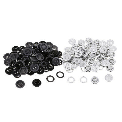 100 Sets 19mm Metal Grommets Eyelet with Washers Silver Black for Hand Craft