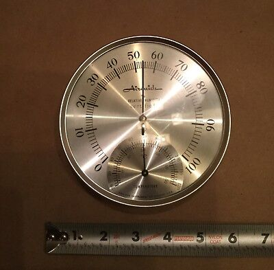 """Vintage Round Airguide Barometer Thermometer 5.25"""""""