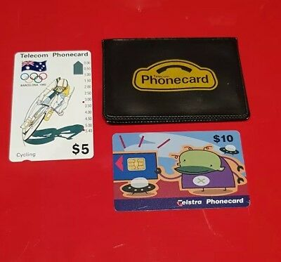 Olympic Memorabilia 1992 - Telecom Phone Card, Pouch And Telstra Phonecard -...