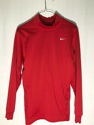 Nike Dri-Fit Girls Long Sleeve Running/Gym/Athletic Top Sz L Red Hi-Neck New