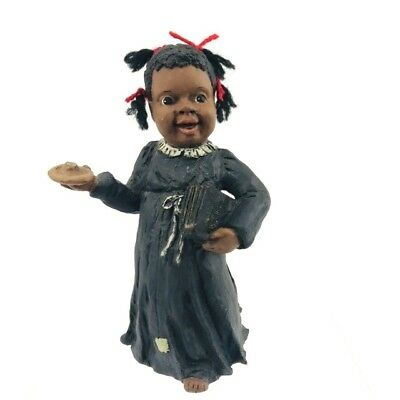 All God's Children Martha Holcombe Resin Black Figurine 1986 Selina Jane Bible