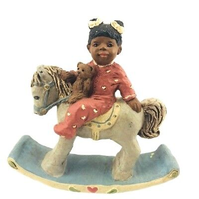 All God's Children Martha Holcombe Resin Black Figurine 1987 Sally 127 Horse