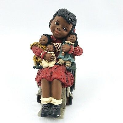 All God's Children Martha Holcombe Resin Black Figurine Silvia Wheelchair 65