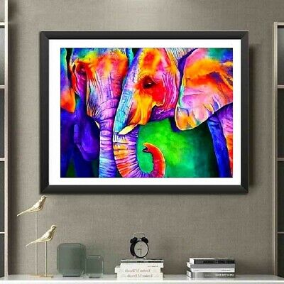 AU Full Drill DIY Elephant 5D Diamond Painting Embroidery Cross Stitch Kit QZ