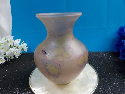 LOVELY HAND PAINTED SIMRON VASE 18 cm H - ISRAEL EXCELLENT CONDITION