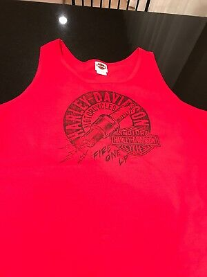 men's Harley Davidson XL tank top Fire One Lip Northshore Louisiana Mike Brunos