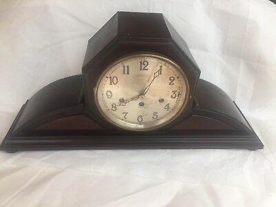 Large 1924 Junghans Baltimore No 17202 Mantle Clock Wurttemberg B25 4 Hammer