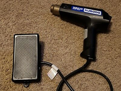 hakko hj5000 heat gun and billy pedal combo fully tested dual temperature