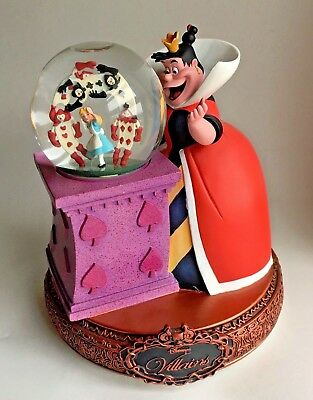 Disney Villains QUEEN OF HEARTS Rotating Musical Globe ALICE IN WONDERLAND New
