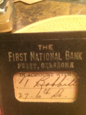 1938-40 The First National Bank Perry, Oklahome Booklet C T Bobbitt