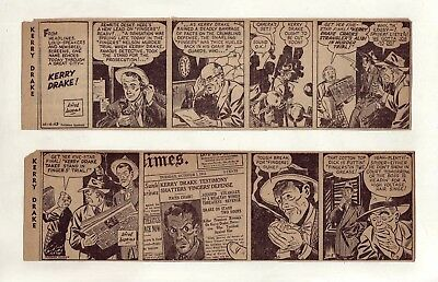 Kerry Drake by Alfred Andriola - FIRST MONTH - 24 daily strips Complete Oct 1943
