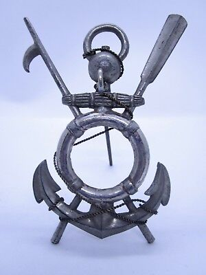 Unusual Pewter German Ges Gesch Nautical Anchor Pocket Watch Holder