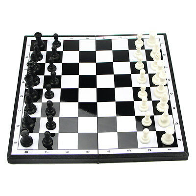 Portable Folding Magnetic Checkers Draughts Matt Chess Pieces Board Game Set