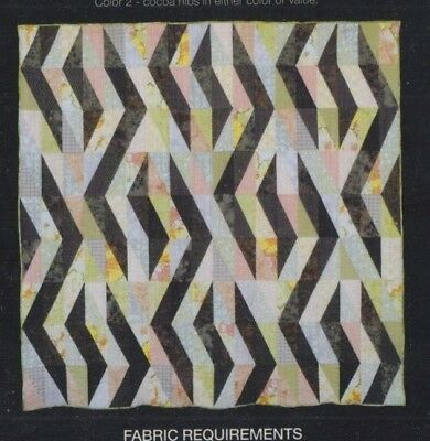 Cocoa Nibs - modern pieced quilt PATTERN for Fat Quarters