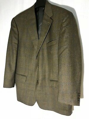Gianfranco Ruffini Mens Wool 2 Butn Blazer/Sport Coat Sz 44 R Brown Houndstooth
