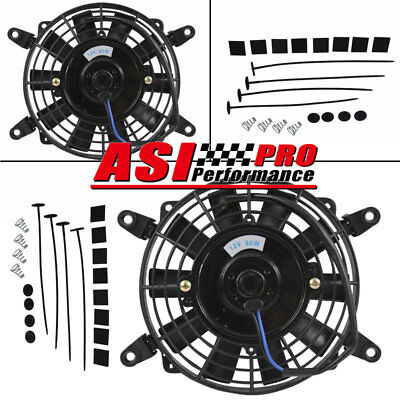 "7"" inch 12V volt Electric Cooling Fan Thermo Fan +Mounting kits High Per PRO"