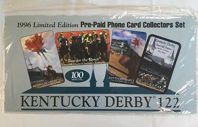 Kentucky Derby 1996 Phone Card Collectors Set 4 Cards Churchill Downs New Sealed