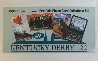Kentucky Derby 1996 Phone Card Collectors Set 4 Cards Churchill Downs