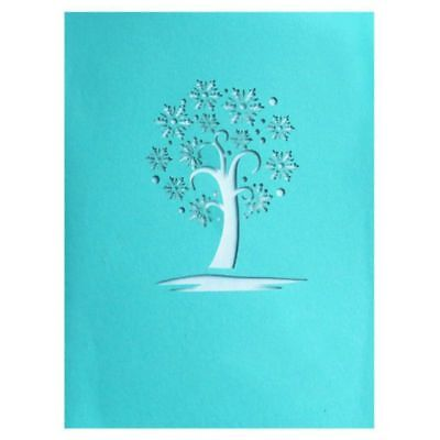 3D Snowflake Pop up Greeting Cards Happy Birthday Lover Valentines Annivers Q7E9