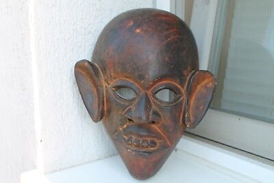 Antique Authentic Hand Made Wooden Ritual Mask