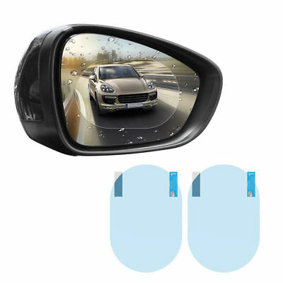 Pair Oval Car Auto Anti Fog Rainproof Rear view Mirror Protective Film Accessory