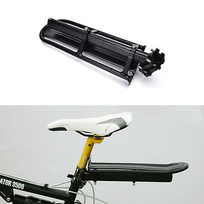 Adjustable Bike Rear Cargo Rack Touring Bag Panniers Carrier Seatpost Mount s/