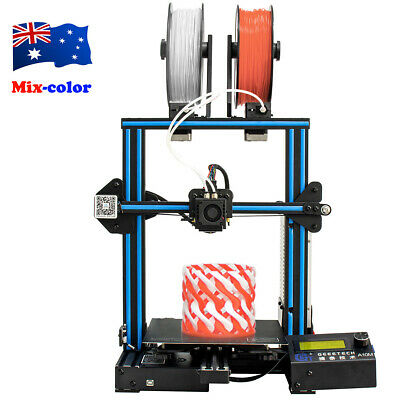 Au Stock! Upgraded Geeetech  3D Printer Dual Extruder 1.75mm Filament Mixing