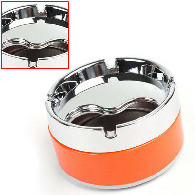 Round Stainless Steel Cigarette Lidded Ashtray Portable Windproof Ashtray Smoker
