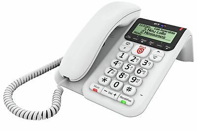 BT Decor 2600 Corded Telephone with Answer Machine - Single.